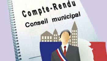 Compte-rendu Conseil Municipal